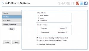 settings nofollow chrome extension igorware